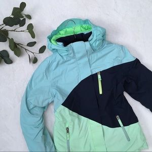 Lands end blue mint and navy jacket